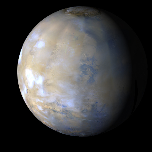 Mars Reconnaissance Orbiter photo of Mars. NASA/JPL-Caltech/MSSS.