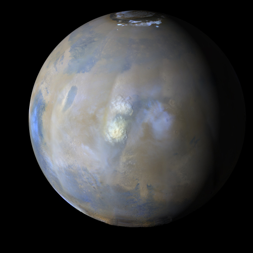 sample view of Mars from the weather report movie available to download from this page