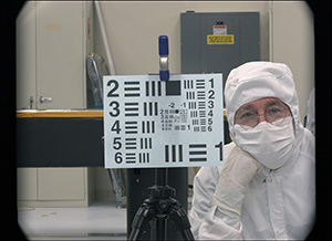 MSL 34mm Mastcam image of Dr. Michael C. Malin, principal investigator of the Mastcam, at JPL from 2 m distance.