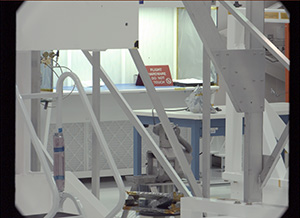View of JPL ATLO high bay in the spacecraft assembly facility taken by the 100mm MSL Mastcam.