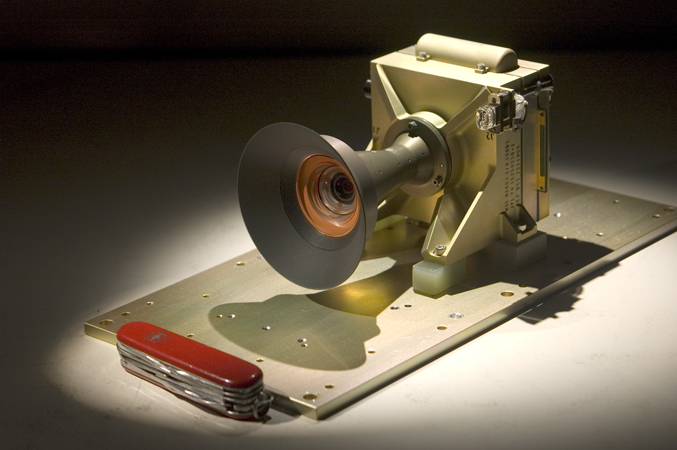 The MSL Mars Descent Imager (MARDI) camera head.