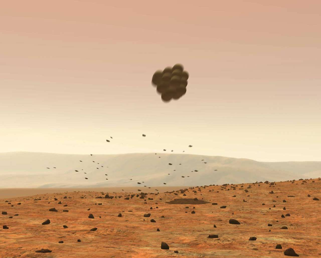mars curiosity rover landing animation - photo #29